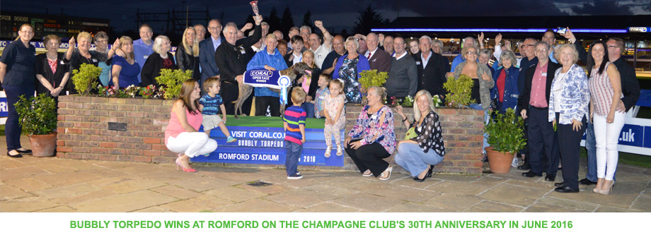 Bubbly Torpedo Wins at Romford on The Champagne Club's 30th Anniversary in June 2016